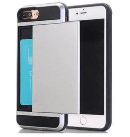 Iphone 5/SE/5S Luxe Zilveren wallet case
