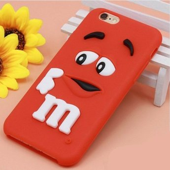 Iphone 6  hoesje M&M Rood
