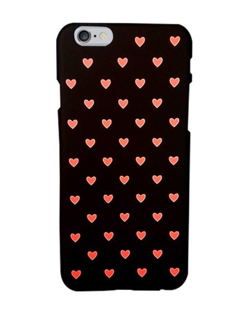 Schattige roze hartjes hardcase hoesje voor de iPhone 6/ 6s