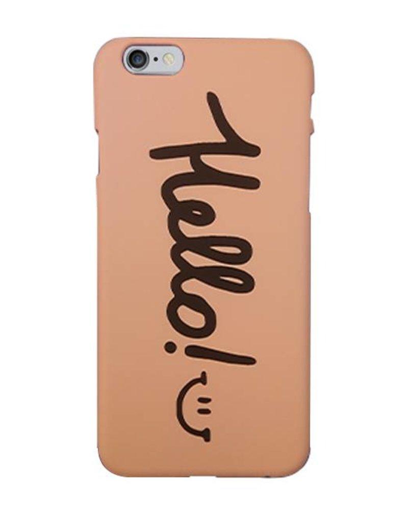 Roze Hello hardcase hoesje voor de iPhone 6/ 6s