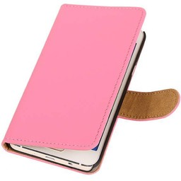 Bookstyle Hoes voor Galaxy A3 Roze