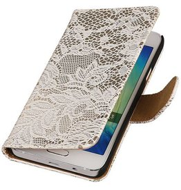 Lace Bookstyle Hoes voor Galaxy A3 Wit