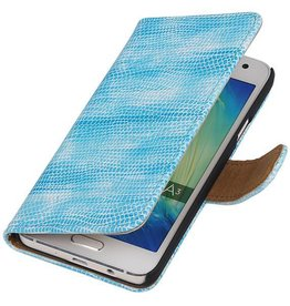Lizard Bookstyle Hoes voor Galaxy A3 Turquoise