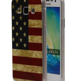 Amerikaanse Vlag TPU Hoesje voor Galaxy A3 USA