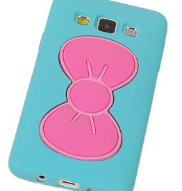Vlinder Standing TPU Case voor Galaxy A3 Turquoise