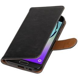 Pull Up PU Leder Bookstyle voor Galaxy A5 2017 A520F Zwart