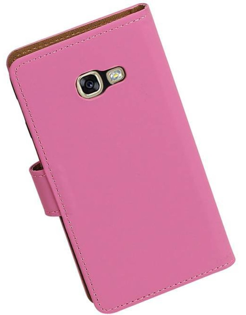 Bookstyle Hoes voor Galaxy A3 2017 A320F Roze