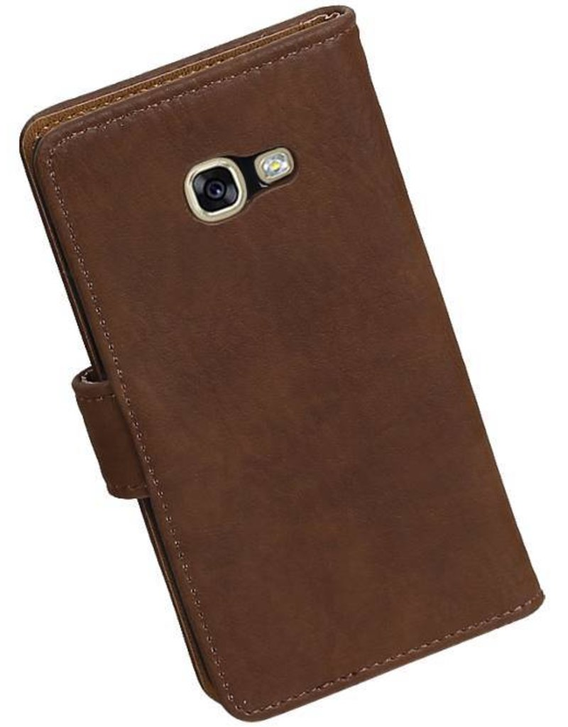 Bark Bookstyle Hoes voor Galaxy A3 2017 A320F Bruin