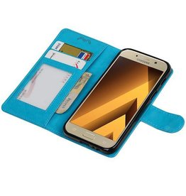 Galaxy A3 2017 Portemonnee hoes booktype wallet Turquoise