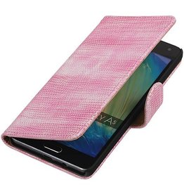 Lizard Bookstyle Hoes voor Galaxy A5 Roze