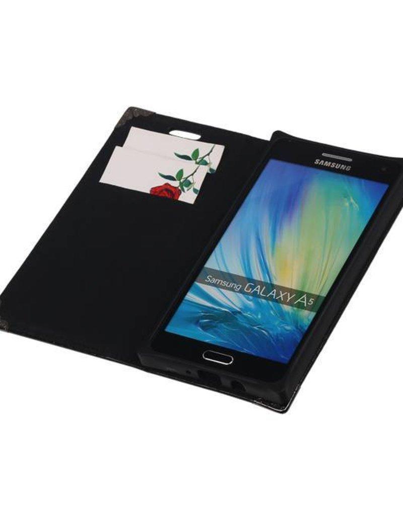 TPU Map Booktype Hoes voor Galaxy A5 Zwart