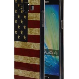 Amerikaanse Vlag TPU Hoesje voor Galaxy A5 USA