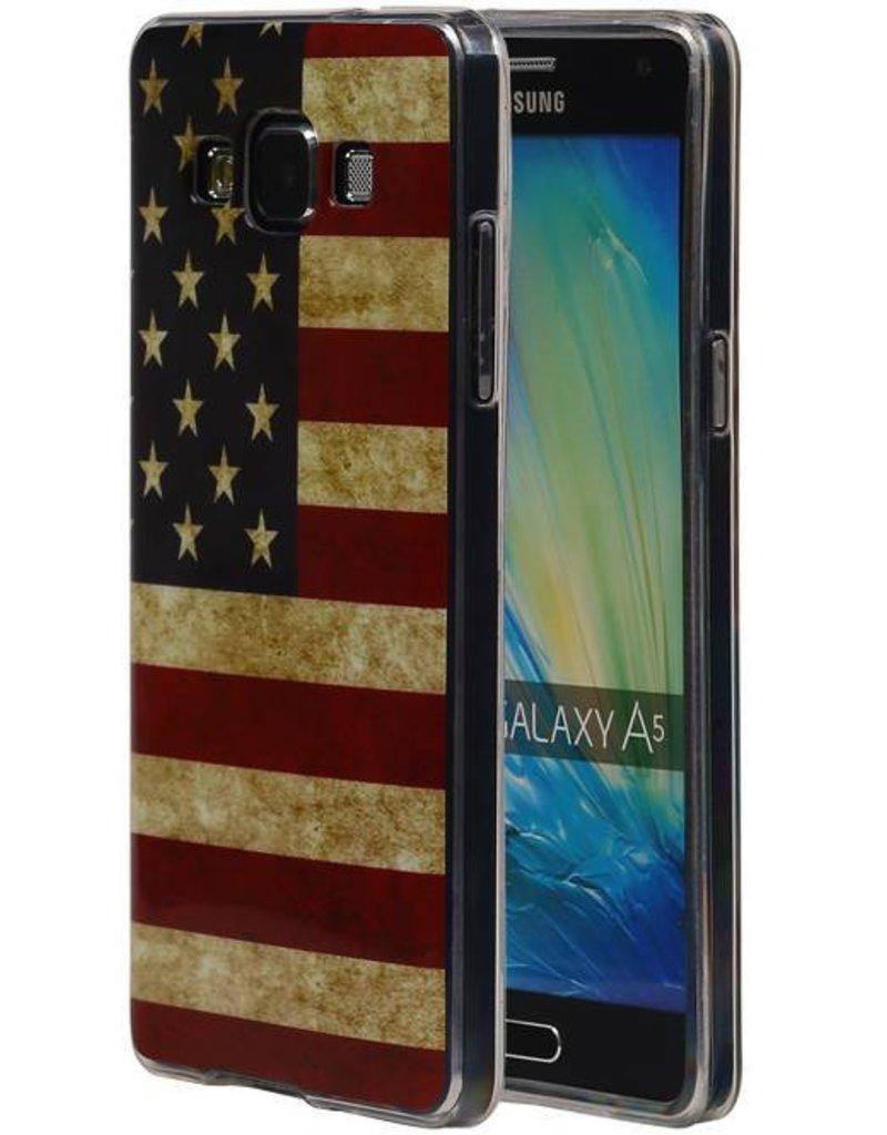 Amerikaanse Vlag TPU Hoesje voor Galaxy A5 USA