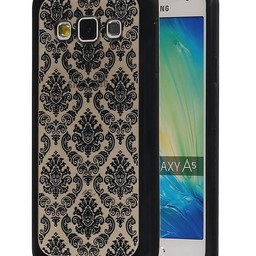 TPU Paleis 3D Back Cover for Galaxy A5  A500F Zwart