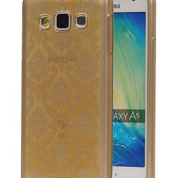 TPU Paleis 3D Back Cover for Galaxy A5  A500F Goud