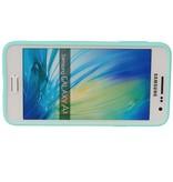 Vlinder Standing TPU Case voor Galaxy A5 Groen