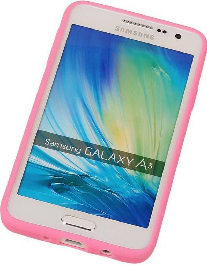 Vlinder Standing TPU Case voor Galaxy A5 Roze