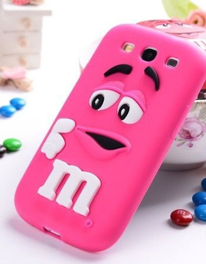 Samsung S3 siliconen hoesje M&M  Rose