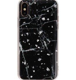 Print Hardcase voor iPhone X / XS Marble Zwart