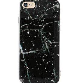 Print Hardcase voor iPhone 8 Marble Zwart