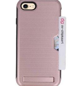 Tough Armor Kaarthouder Stand Hoesje voor iPhone 7/8 Roze Goud