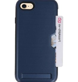 Tough Armor Kaarthouder Stand Hoesje voor iPhone 7/8 Navy