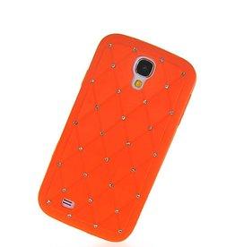 Samsung Galaxy S4 Daimond Strass Oranje