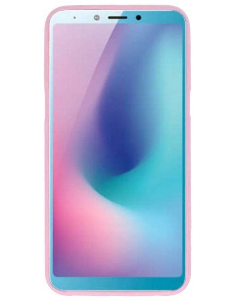 Color TPU Hoesje voor Samsung Galaxy A6s Roze