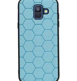 Hexagon Hard Case voor Samsung Galaxy A6 2018 Blauw (Meerdere kleuren)