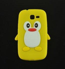 Samsung Galaxy Trend Lite Siliconen hoesje Pinguin Geel