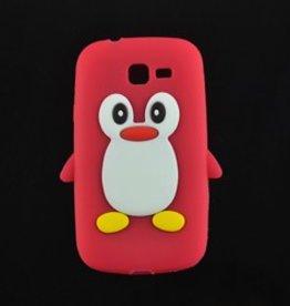 Samsung Galaxy Trend Lite Siliconen hoesje Pinguin Rood