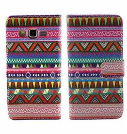 Samsung Galaxy Young 2 Leren  Wallet Aztec