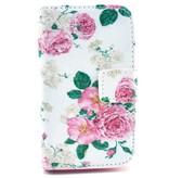 Samsung Galaxy Fame Leren PU Wallet Flowers