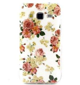 Samsung Galaxy Core Prime TPU Hoesje Flowers
