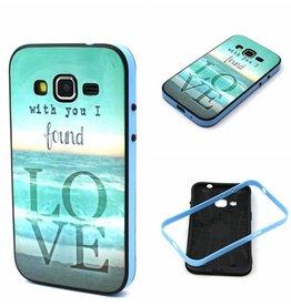 Samsung Galaxy Core Prime TPU Hoesje met gekleurde Bumper Love