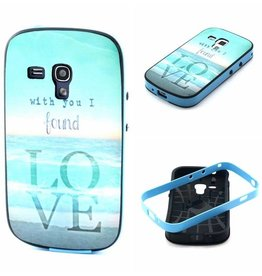 Samsung Galaxy S Duos(2)/Trend Plus TPU Hoesje met gekleurde bumper Love