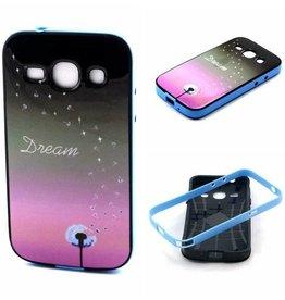 Samsung Galaxy Grand Neo/Grand Neo Plus siliconen hoesje met gekleurde bumper Dream