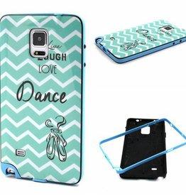 Samsung Galaxy Note 4 Hard siliconen hoesje met gekleurde bumper Dance