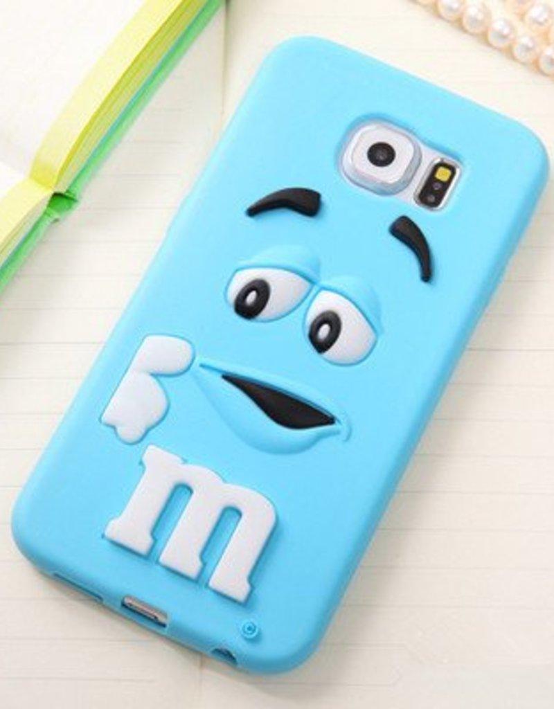 Samsung Galaxy S6 siliconen hoesje M&M Blauw