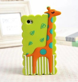 Iphone 4 (S)Giraffe Oranje Groen