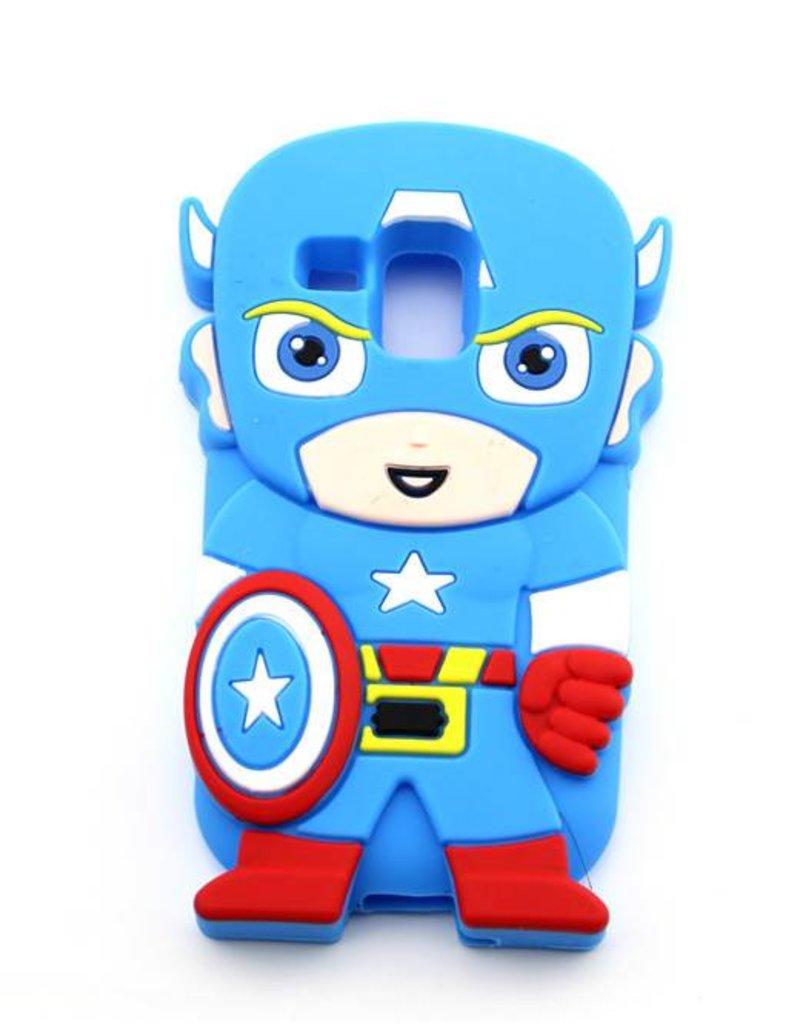 Samsung S3 Mini siliconen hoesje Superheld Captain America