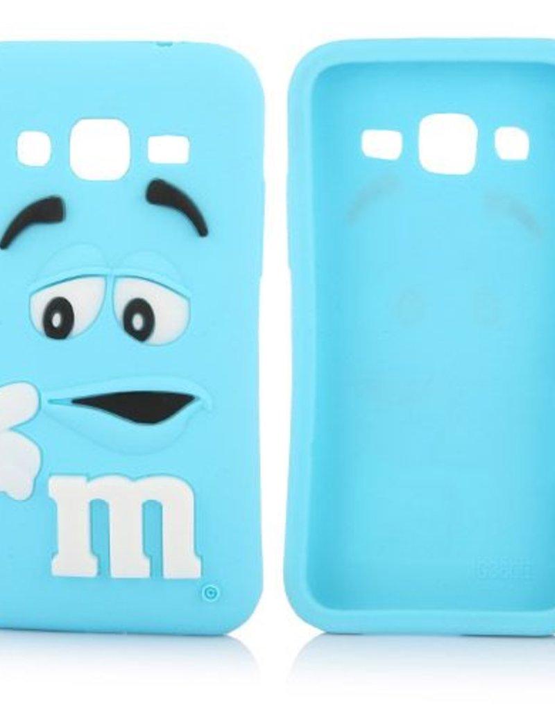 Samsung Galaxy Core Prime  siliconen M&M hoesje Blauw
