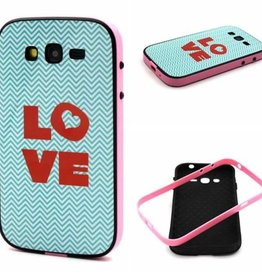 Samsung Galaxy Grand Neo/Grand Neo Plus Hard siliconen hoesje met gekleurde bumper Love 1