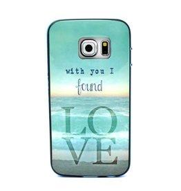 Samsung S6 Edge Love met gekleurde bumper