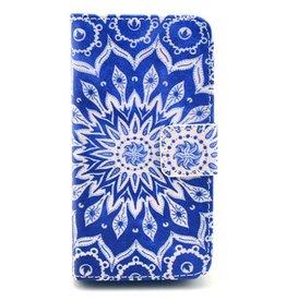Samsung Galaxy S5 mini PU leren Wallet Blauw