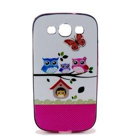 Samsung S3 hoesje met gekleurde bumper Uitjes