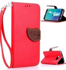 Samsung Galaxy S6 Edge PU Leer Wallet  Rood