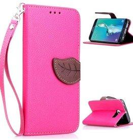 Samsung Galaxy S6 Edge PU Leer Wallet Rose