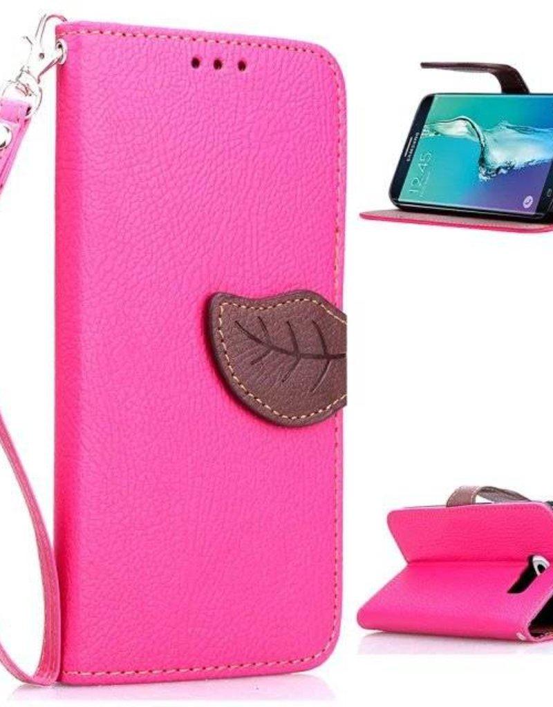Samsung Galaxy S6 Edge PU Lederen Wallet Leaf Rose