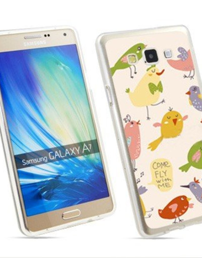 Samsung Galaxy A7 TPU hoesje Come fly with me